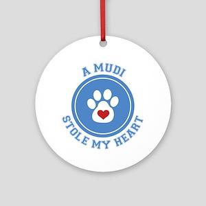 Mudi/My Heart Ornament (Round)