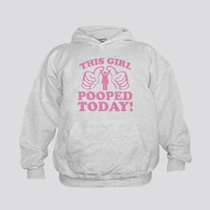 This Girl Pooped Today! Kids Hoodie