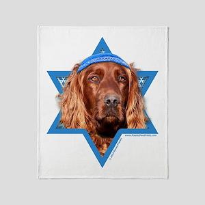 Hanukkah Star of David - Setter Throw Blanket