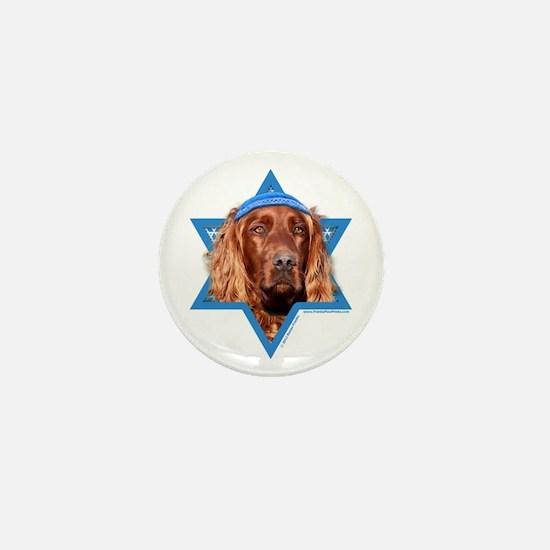 Hanukkah Star of David - Setter Mini Button