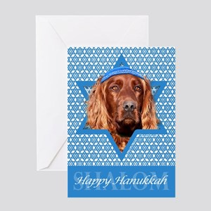 Hanukkah Star of David - Setter Greeting Card