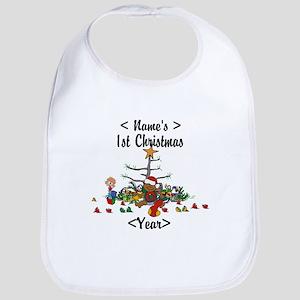 Personalized 1st Christmas Bib