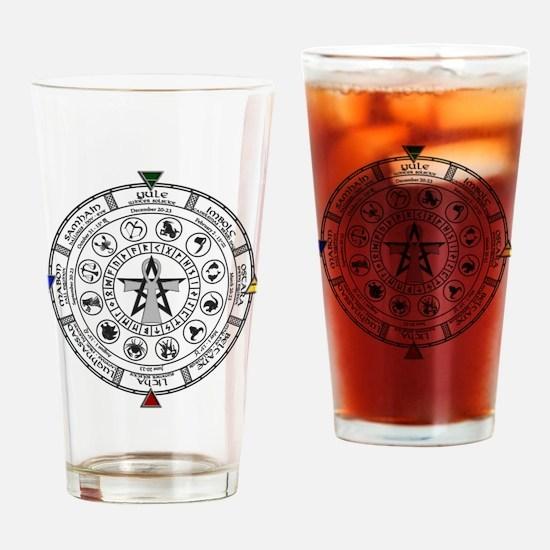 Wheel of the Year Zodiac Sabats Drinking Glass