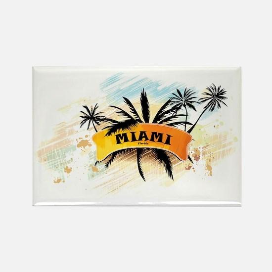 Miami Florida Rectangle Magnet