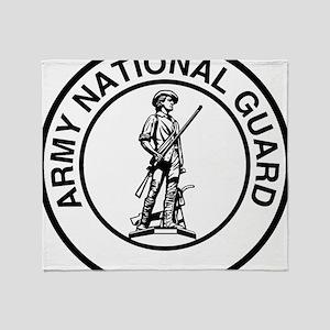 ARNG-Logo-Black-White Throw Blanket