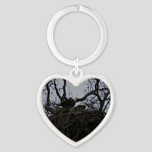 111 Heart Keychain