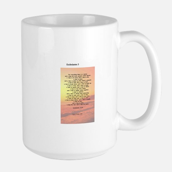 Scripture from the Bible, say Large Mug