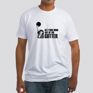 Mind out of the Gutter - Bowler Fitted T-Shirt