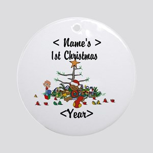 Personalized 1st Christmas Ornament (Round)