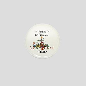 Personalized 1st Christmas Mini Button