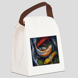 Rainbow Koi Pond Canvas Lunch Bag