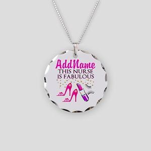 FABULOUS NURSE Necklace Circle Charm