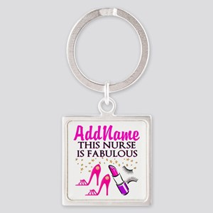 FABULOUS NURSE Square Keychain