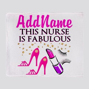 FABULOUS NURSE Throw Blanket
