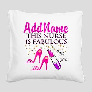 FABULOUS NURSE Square Canvas Pillow