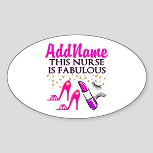 FABULOUS NURSE Sticker (Oval)