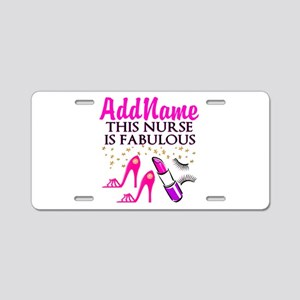 FABULOUS NURSE Aluminum License Plate