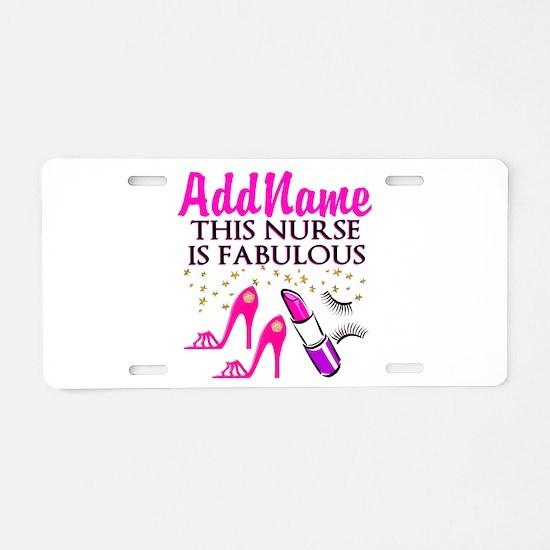 FABULOUS NURSE Aluminum License Plate