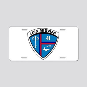 USS MIDWAY SHIELD - Aluminum License Plate