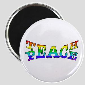 Teach Peace Rainbow Magnets