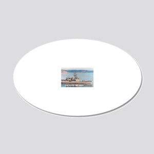 evans framed panel print 20x12 Oval Wall Decal
