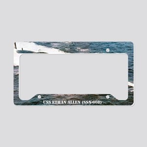 e allen ssn large poster License Plate Holder