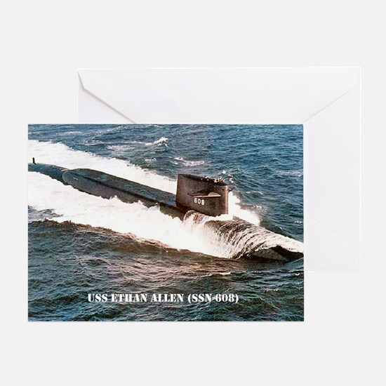 e allen ssn large poster Greeting Card