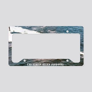 e allen ssn mini poster License Plate Holder