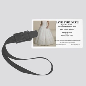Save The Date Large Luggage Tag