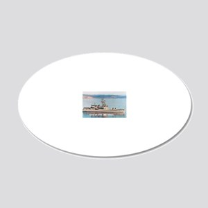evans greeting card 20x12 Oval Wall Decal