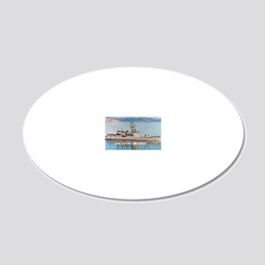 evans postcard 20x12 Oval Wall Decal