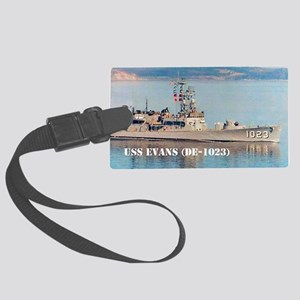 evans note cards Large Luggage Tag