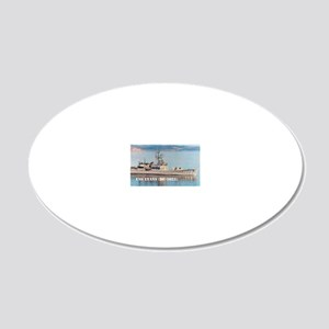evans note cards 20x12 Oval Wall Decal