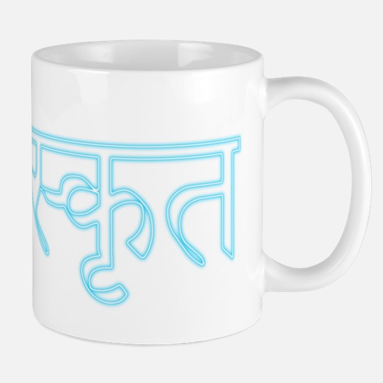 sanskrit_neon_button Mug