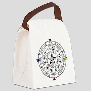 Wheel of the Year Zodiac Sabats Canvas Lunch Bag