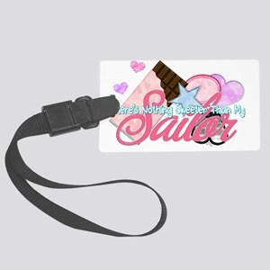 STBD_NothingSweeter_Sailor_Vday Large Luggage Tag