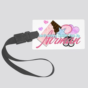 STBD_NothingSweeter_Airman_Vday Large Luggage Tag