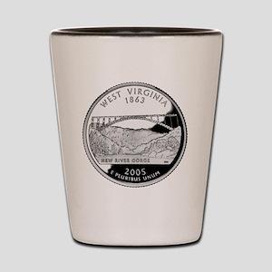 coin-quarter-west-virginia Shot Glass