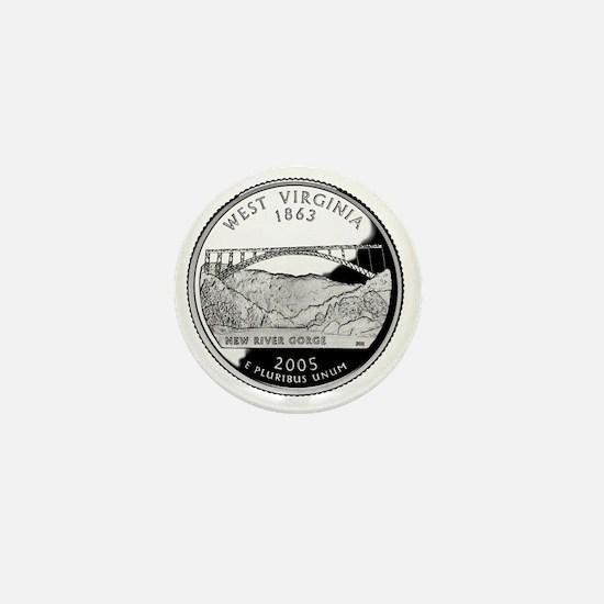 coin-quarter-west-virginia Mini Button