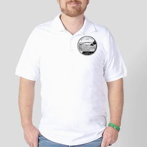 coin-quarter-west-virginia Golf Shirt