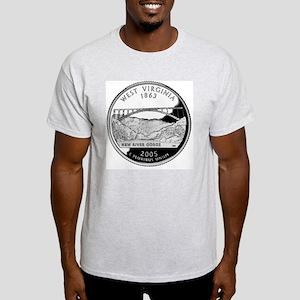 coin-quarter-west-virginia Light T-Shirt