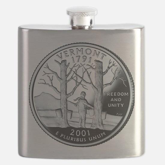 coin-quarter-vermont Flask