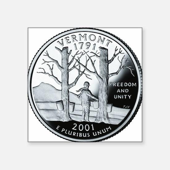 """coin-quarter-vermont Square Sticker 3"""" x 3"""""""