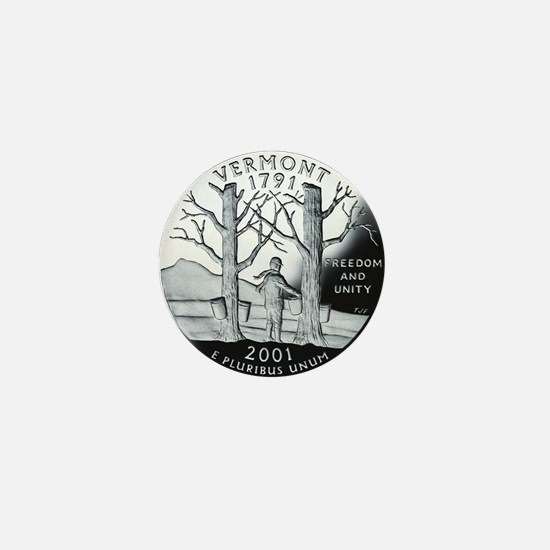 coin-quarter-vermont Mini Button