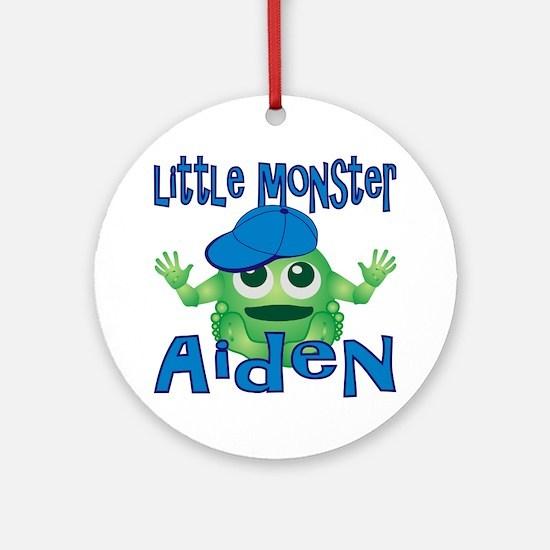 2-aiden-b-monster Round Ornament