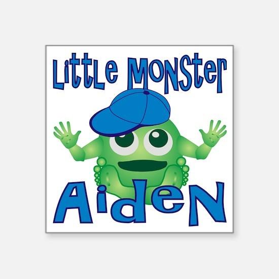 "2-aiden-b-monster Square Sticker 3"" x 3"""