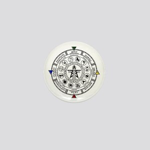 Wheel of the Year Zodiac Sabats Mini Button