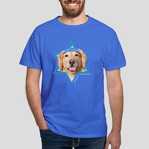 Hanukkah Star of David - Golden Dark T-Shirt