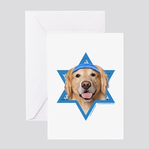 Hanukkah Star of David - Golden Greeting Card