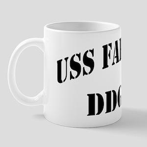 farragut ddg black letters Mug
